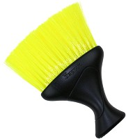 Denman Neck Duster Black with Yellow Bristles